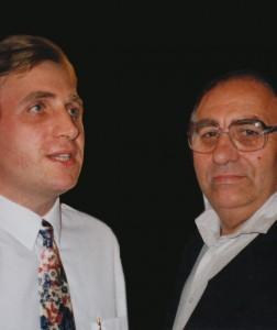 Wraz z ojcem, lipiec 1993.