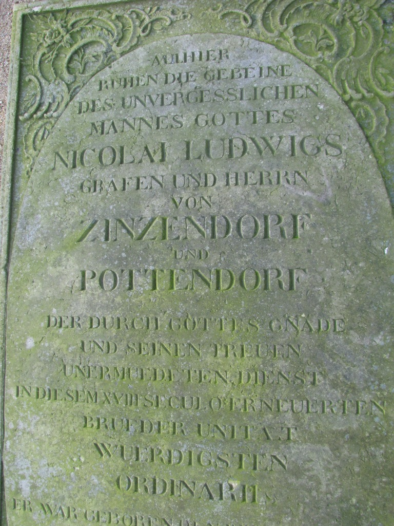 Grób N.L. von Zinzendorf w Herrnhut