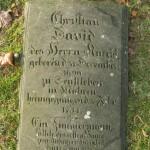 Grób Christiana Dawida w Herrnhut.