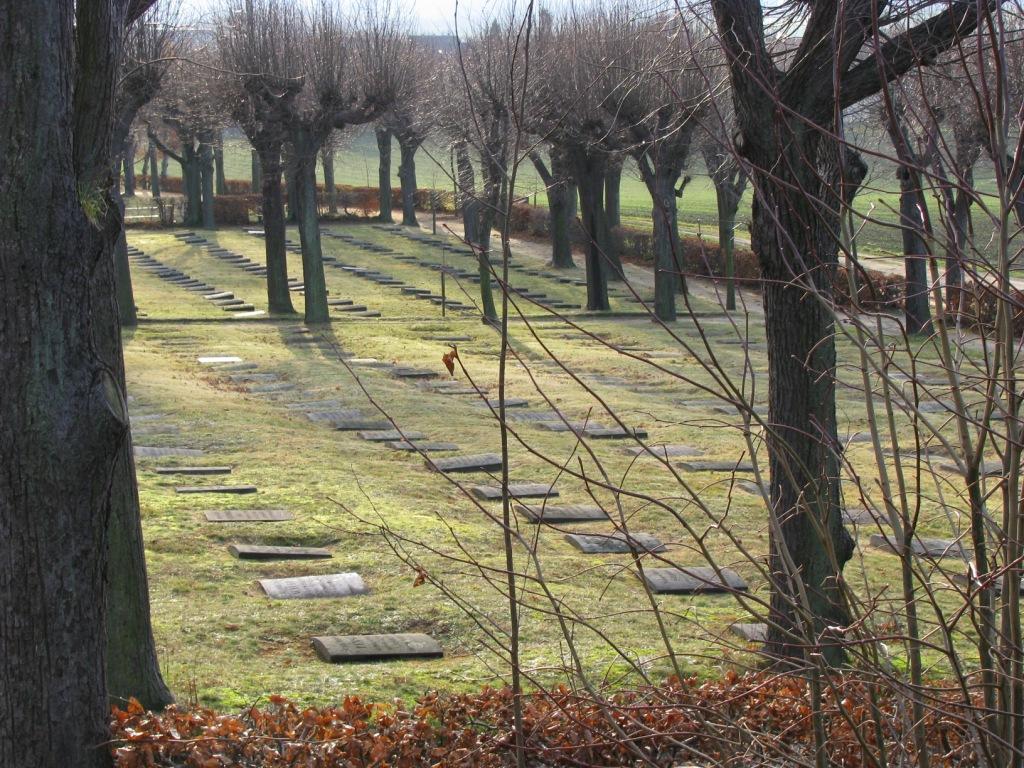 Widok na cmentarz w Herrhnut
