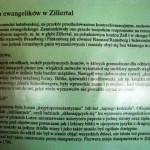 Tablica, sytuacja ewangelików Zillertal cz.1