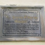 Płyta nagrobna, Henrietta Catherine von Gersdorf (1656–1726).
