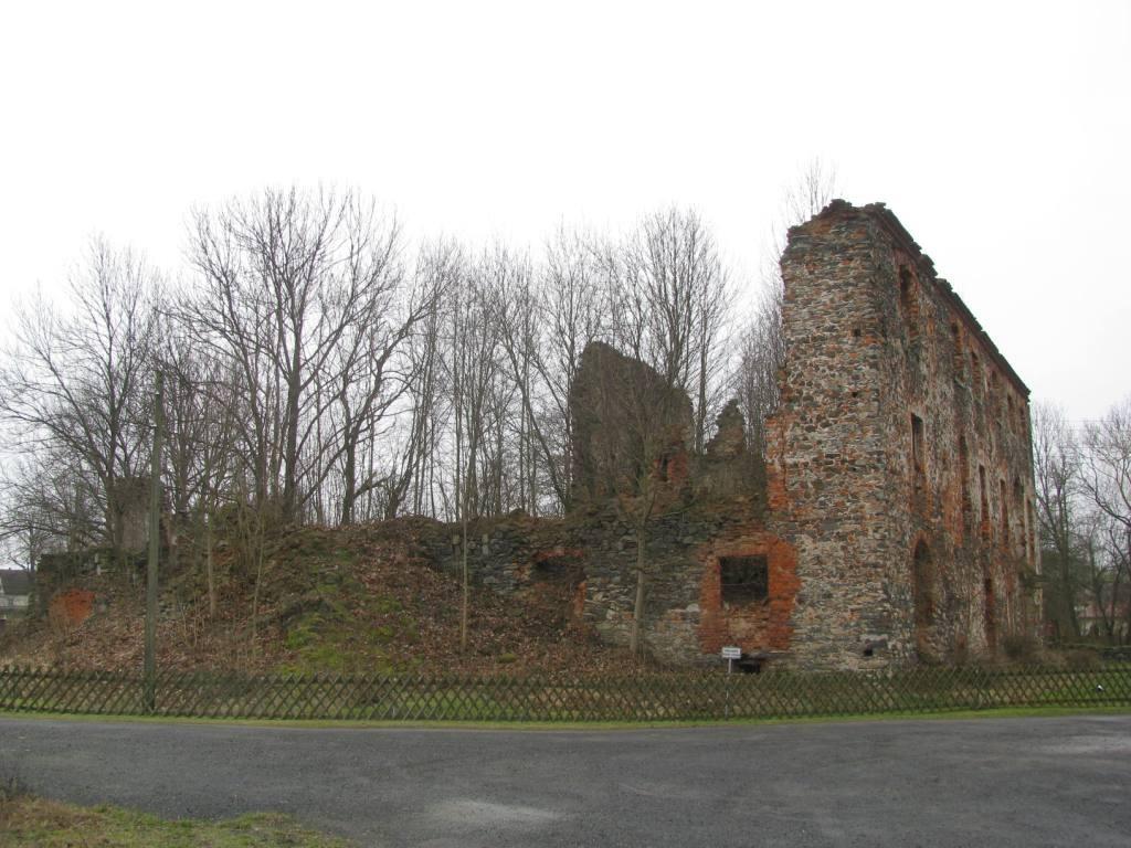 Ruiny pałacu.