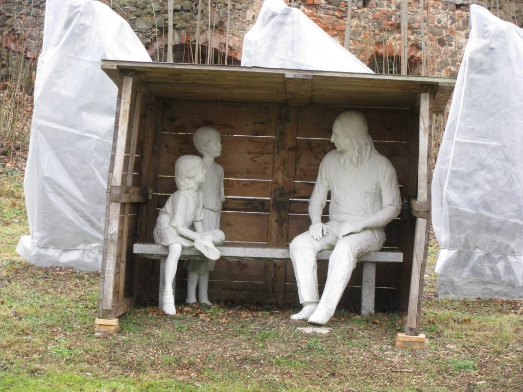 Nauczanie dzieci przez N.L. von  Zinzendorf.